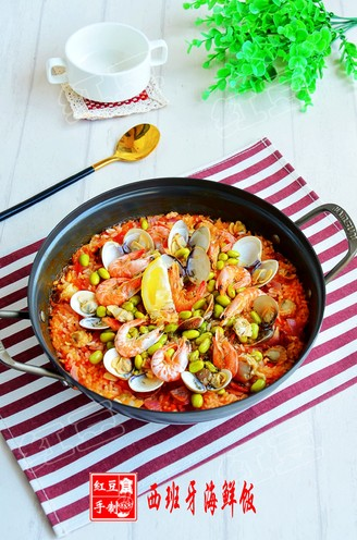 Homemade Spanish Seafood Risotto recipe