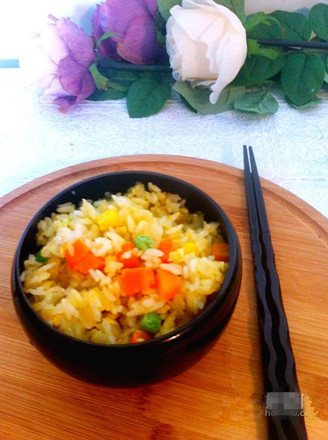 Fried Rice with Mixed Vegetables and Eggs