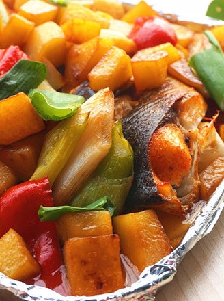 Grilled Fish with Seasonal Vegetables recipe