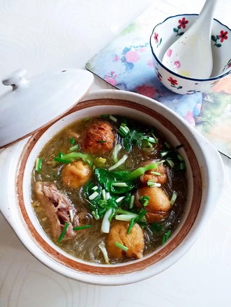 Goose and vermicelli soup recipe