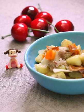 Steamed garlic with seasonal vegetables to prevent colds recipe