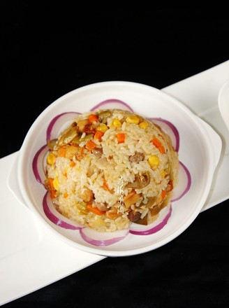 Braised Rice with Beans recipe