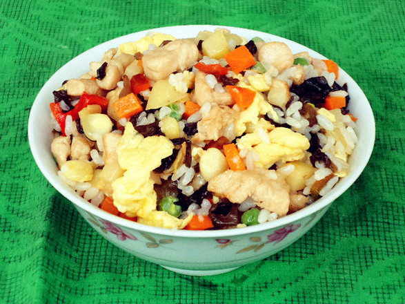 Fried Rice with Chicken and Seasonal Vegetables recipe