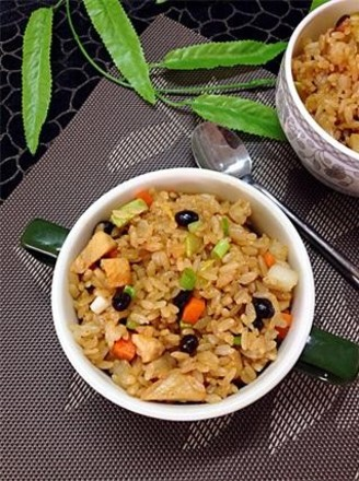 Fried rice with tempeh and seasonal vegetables recipe
