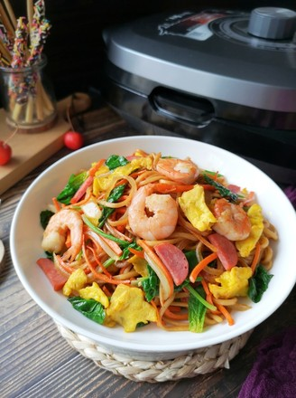 [Long for a long time] Fried noodles with seasonal vegetables recipe