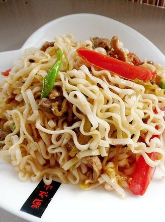 Fried Noodles with Seasonal Vegetables recipe