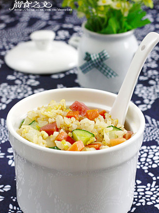 Fried Rice with Ham and Egg