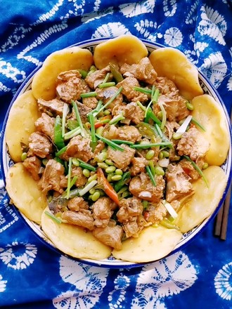 Steamed bun with pork ribs and roasted edamame recipe