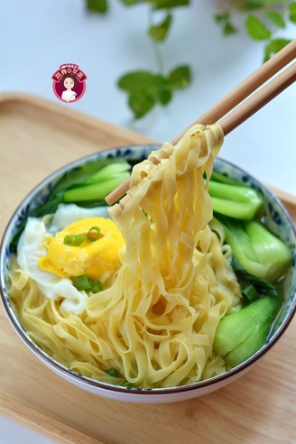 Noodle Soup with Eggs and Vegetables recipe